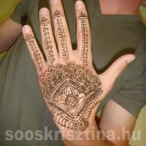Hennafestő tanfolyam, tanuló munkája. Oktató: Soós Krisztina