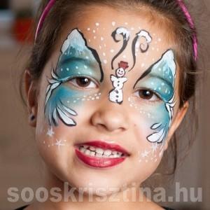 Tél arcfestés. festő: Soós Krisztina