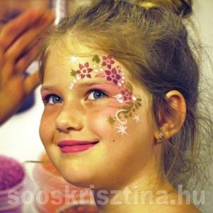 Virág arcfestés. festő: Soós Krisztina