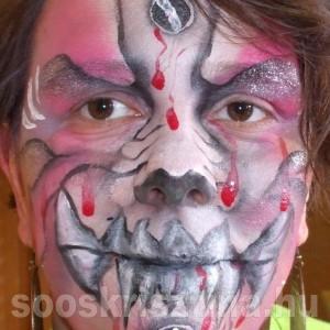Boszorkány arcfestés. festő: Soós Krisztina