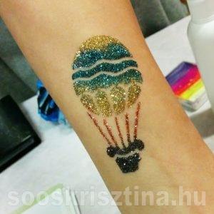 Hőlégballon csillámfestés, Soós Krisztina