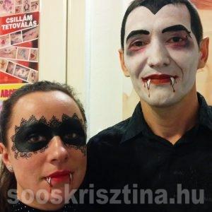 Maszk és Dracula arcfestés, arcfestő: Soós Krisztina