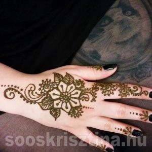 Kézfej henna, Soós Krisztina Hennafestő, Budapest