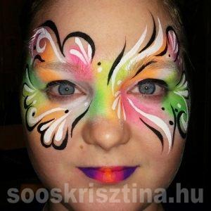 UV arcfestés, Soós Krisztina arcfestő