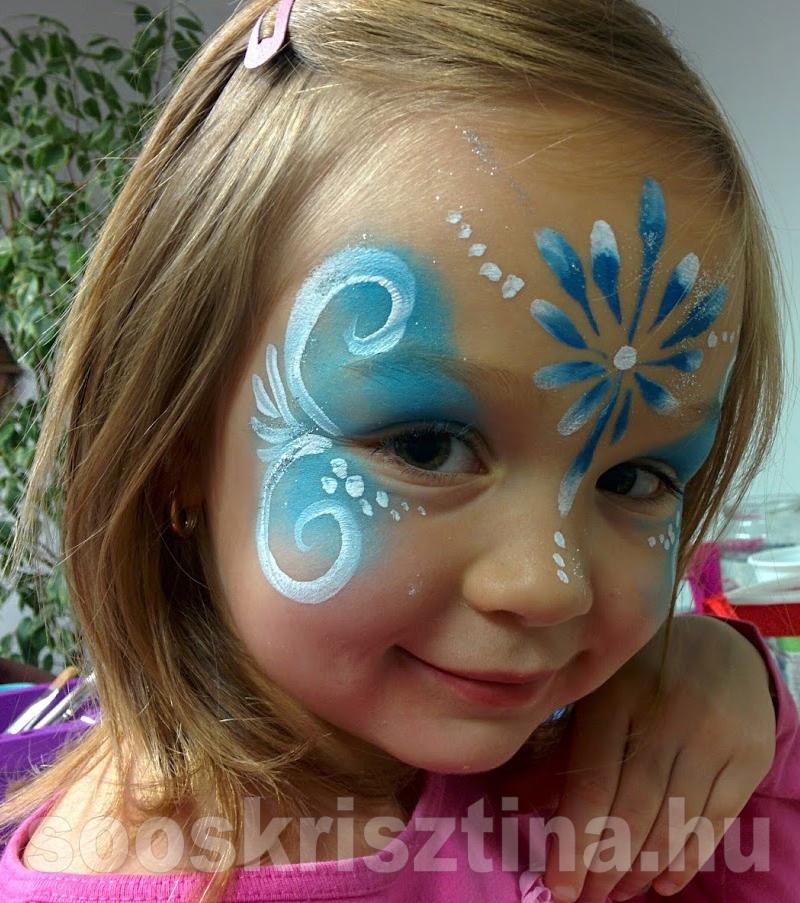 Cuki kislány, arcfestő: Soós Krisztina