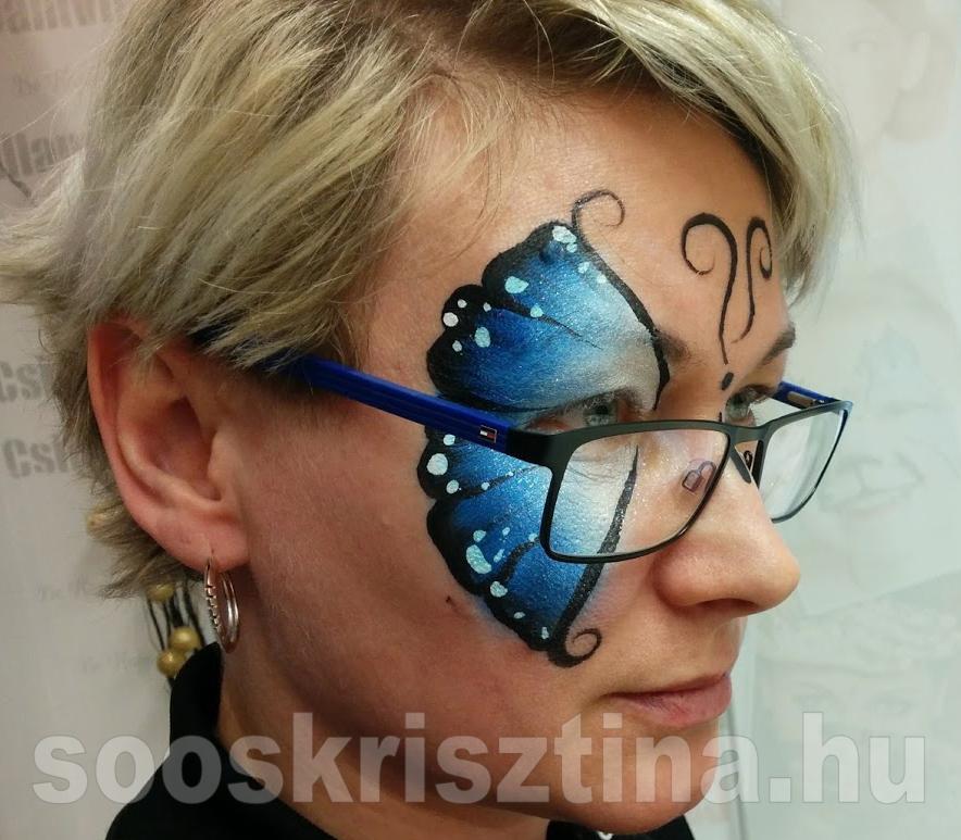 Pillangó arcfestés, arcfestő: Soós Krisztina