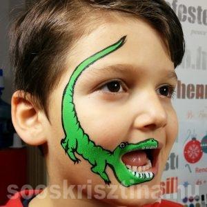 Krokodil arcfestés, Soós Krisztina arcfestő