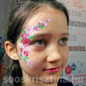 Virágos arcfestés, Soós Krisztina arcfestő