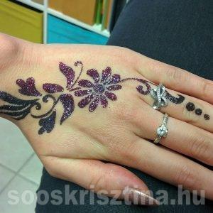 Virágos kéz festés, Soós Krisztina