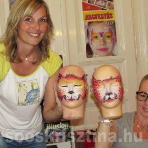 Középhaladó arcfestés tanfolyamon, Csillámvilág arcfestés tanfolyam