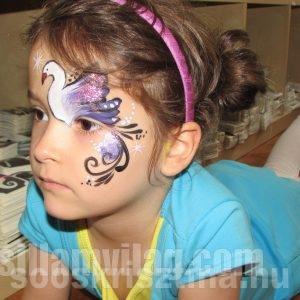 Középhaladó arcfestés tanfolyam minta, Csillámvilág arcfestés tanfolyam