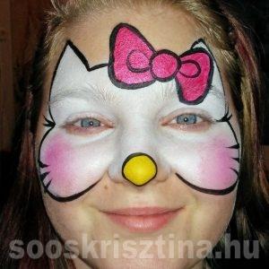 Hello Kitty arcfestés, Soós Krisztina arcfestő