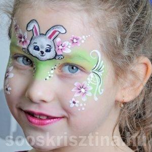 Húsvéti nyuszi arcfestés, Soós Krisztina arcfestő