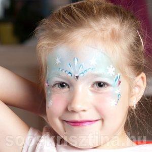 Jéghercegnő arcfestés, Soós Krisztina arcfestő