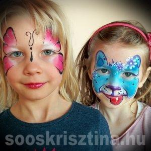 Lepke és kutya arcfestés, Soós Krisztina arcfestő