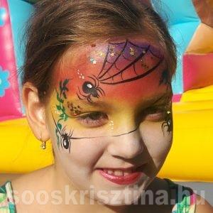 Pók arcfestés, arcfestő: Soós Krisztina