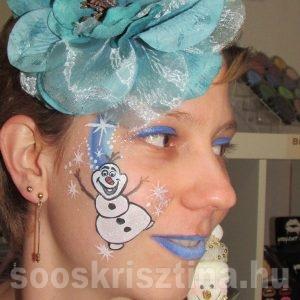 Olaf arcfestés, Soós Krisztina arcfestő