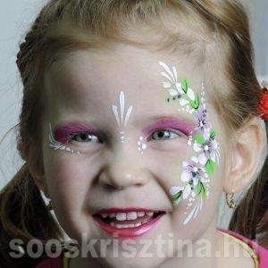 Virág arcfestés, Soós Krisztina arcfestő