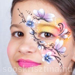 Tavaszi virágos arcfestés, Soós Krisztina arcfestő