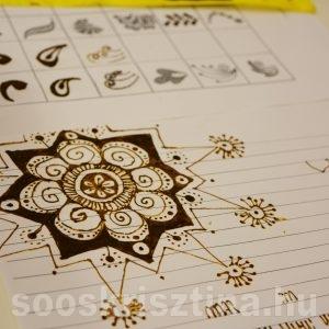 Hennafestés tanfolyam, gyakorlás