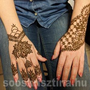 Henna a Remény és Szépség napról, hennafestő: Soós Krisztina
