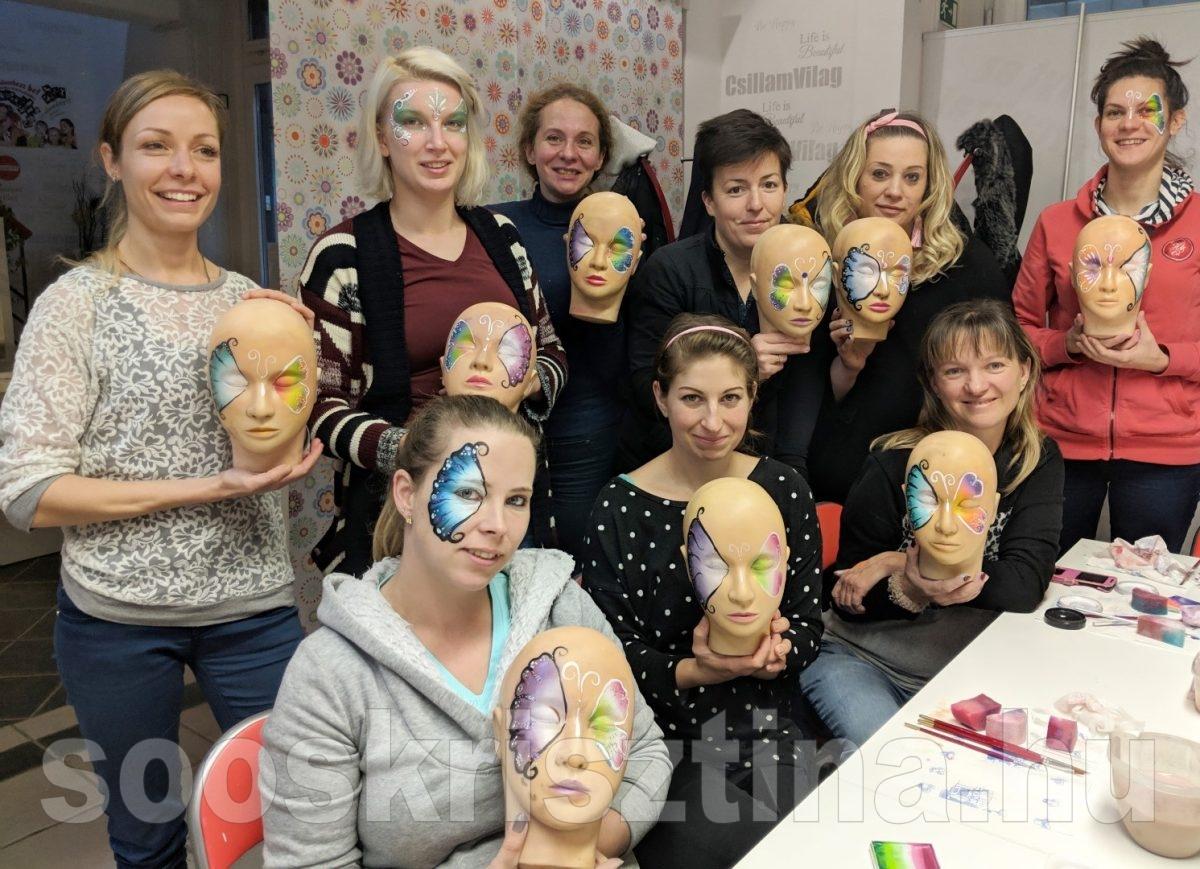 Kezdő arcfestő képzés, Budapest